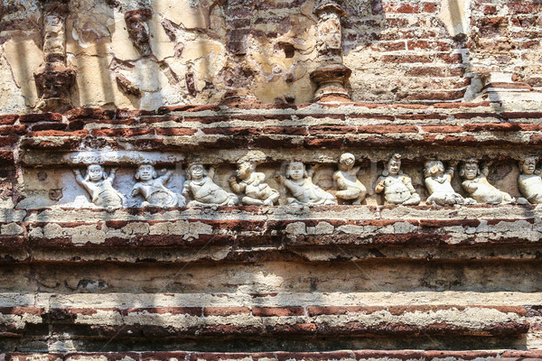 fresco in the old Kings Palace in Polonnaruwa Stock photo © meinzahn