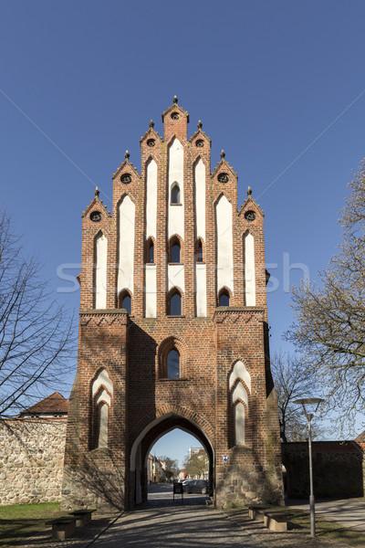 Friedland Gate of Neubrandenburg, Mecklenburg, Germany Stock photo © meinzahn