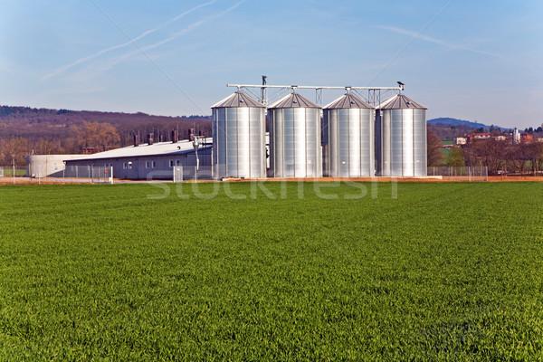 silo in beautiful landscape in sun Stock photo © meinzahn