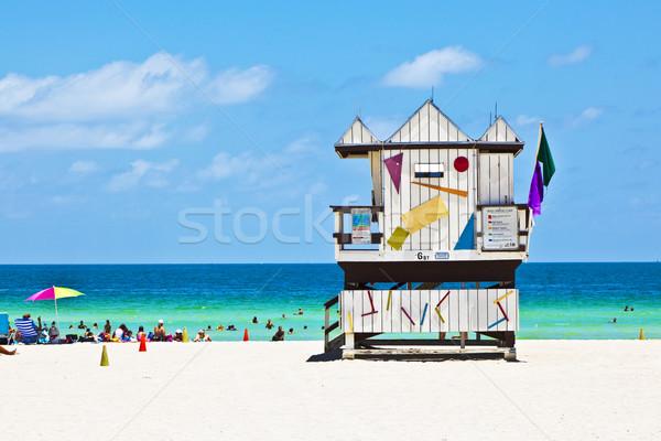 Смотреть хижина пляж небе воды Сток-фото © meinzahn