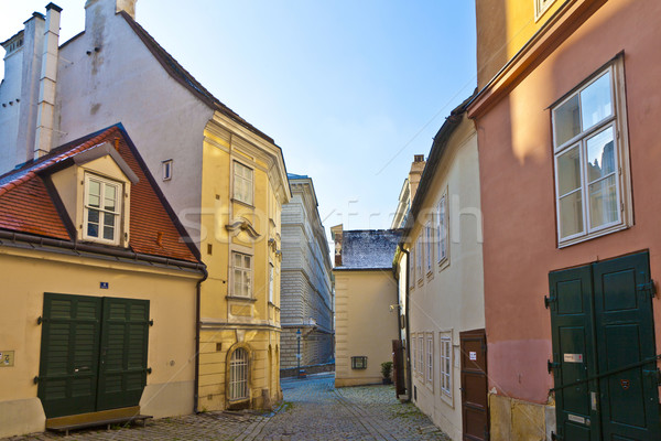 typical old houses in Vienna first district in the famous area M Stock photo © meinzahn