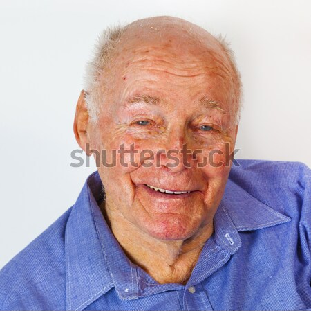 portrait of cute handsome man with a positive friendly expressio Stock photo © meinzahn