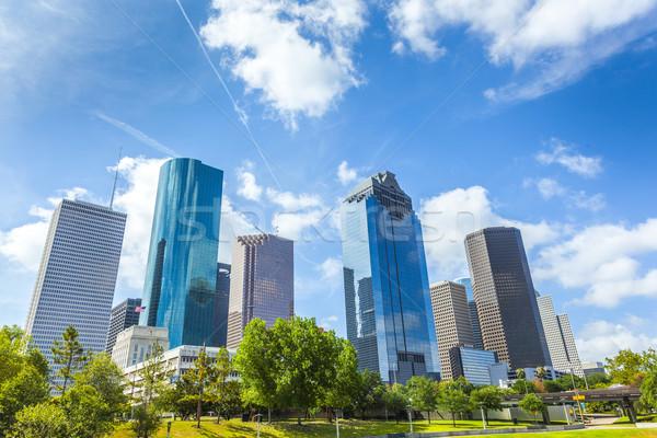 スカイライン ヒューストン テキサス州 青空 市 ストックフォト © meinzahn