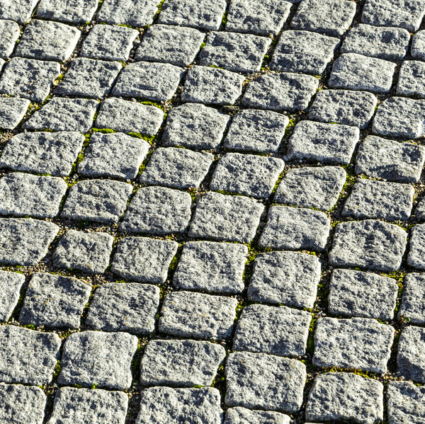 pattern of cobble stones at the paveway  Stock photo © meinzahn
