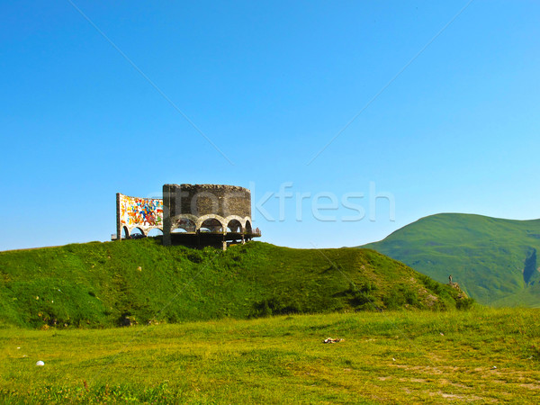 Soviet Monument to Russo-Georgian Friendship  Stock photo © meinzahn