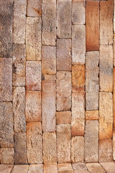 Briques historique bâtiment Delhi résumé Photo stock © meinzahn