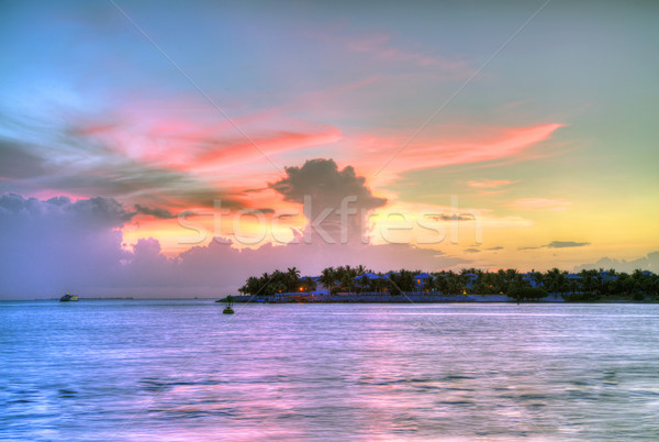 日落 關鍵 西方 壯觀 著名 海灘 商業照片 © meinzahn