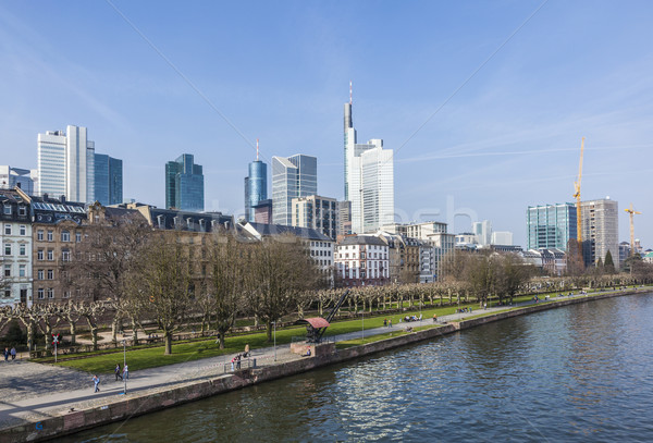 skyline of Frankfurt am Main  with skyscraper Stock photo © meinzahn