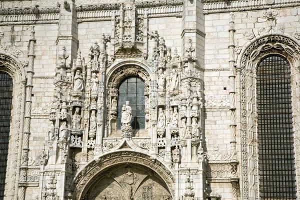 Mosteiro belo Lisboa igreja azul pedra Foto stock © meinzahn