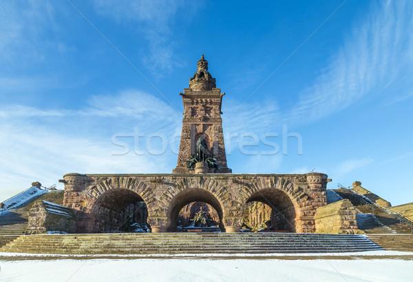 Montanha Alemanha blue sky retro cabeça vintage Foto stock © meinzahn