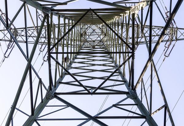 Elektomos torony bent nézőpont építkezés égbolt Stock fotó © meinzahn