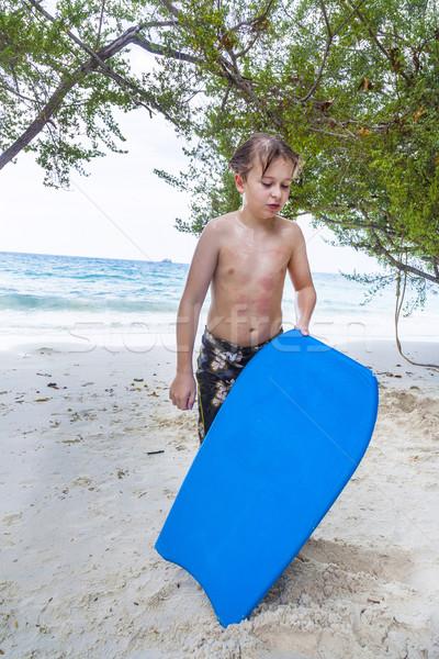 Plage épuisé surf surf bord Photo stock © meinzahn