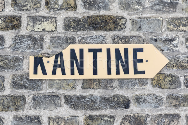 sign kantine - canteen - at an old brick wall  Stock photo © meinzahn