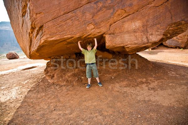 долины ребенка весело большой рок Сток-фото © meinzahn