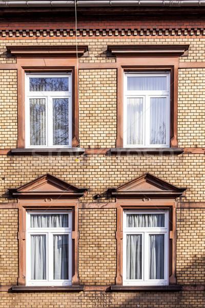 Oude huis venster muur abstract stedelijke Stockfoto © meinzahn