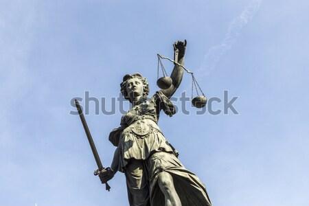 Foto stock: Estatua · dama · justicia · Frankfurt · negocios