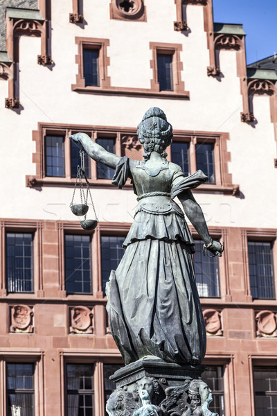 fountain of justice in front of the Romer Stock photo © meinzahn