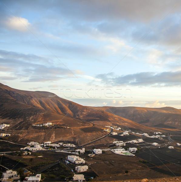 sunrise in the mountains at Femes, Lanzarote Stock photo © meinzahn