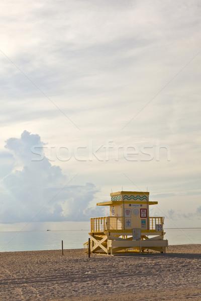 Fából készült art deco tengerpart gyönyörű víz nap Stock fotó © meinzahn