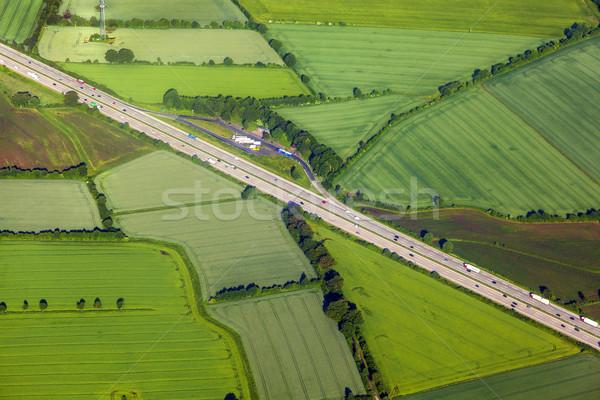 Autostrada amburgo primavera legno Foto d'archivio © meinzahn