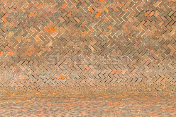 harmonic red brick wall background Stock photo © meinzahn