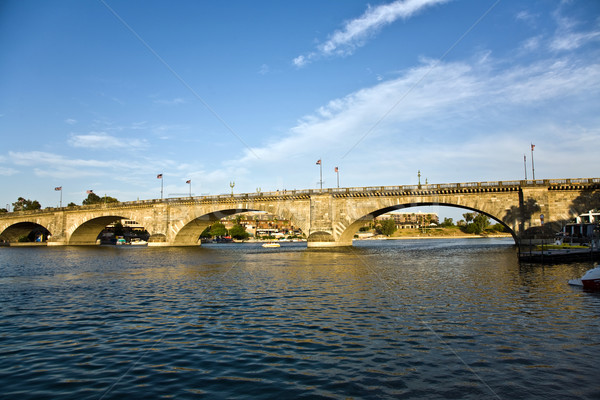 London Bridge in Lake Havasu, old historic bridge rebuilt with o Stock photo © meinzahn