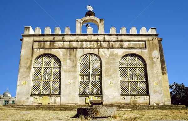 замок Эфиопия мнение трава здании зданий Сток-фото © meinzahn
