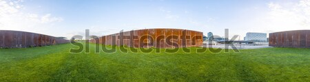 panorama of Spreebogen park in Berlin  Stock photo © meinzahn
