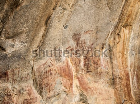 famous rock paintings in Iringa Stock photo © meinzahn