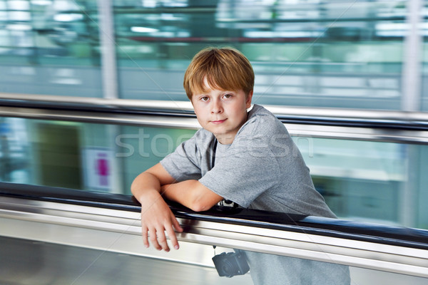 boy in the departure hall  in the new Airport  Stock photo © meinzahn