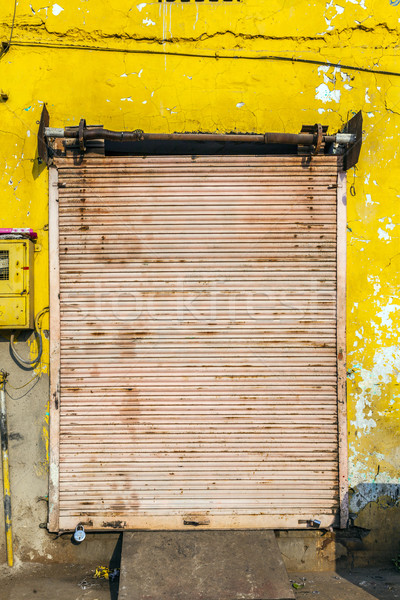 closed shops on the Hindi day of rest Stock photo © meinzahn