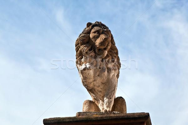 Lion made of Sandstone in Eltville Stock photo © meinzahn
