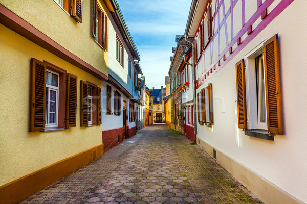 street with old timbered houses  Stock photo © meinzahn