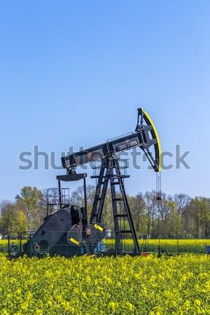 Produkcji mineralny oleju wyspa niebo wiosną Zdjęcia stock © meinzahn