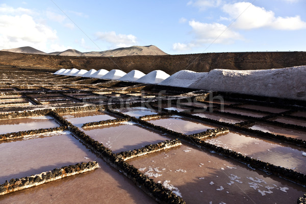 Salt refinery, Saline from Janubio, Lanzarote  Stock photo © meinzahn