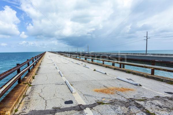Velho sete ponte nublado céu Foto stock © meinzahn