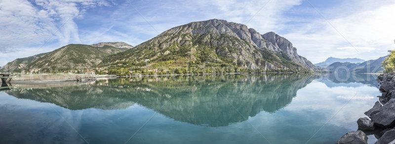 Lago alpi Francia acqua blu montagna Foto d'archivio © meinzahn