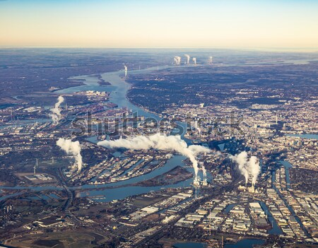 Cidade hamburgo de manhã cedo céu Foto stock © meinzahn