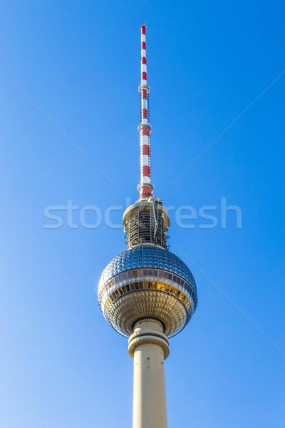 表示 テレビ 塔 アレクサンダー広場 ベルリン 美しい ストックフォト © meinzahn
