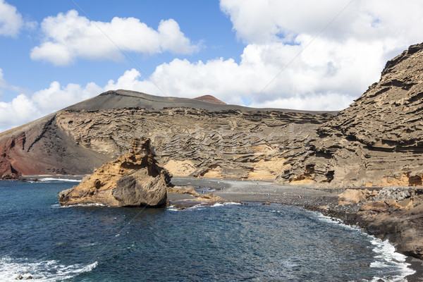 lagoon of El Golfo in Lanzarote, Canary Islands Stock photo © meinzahn