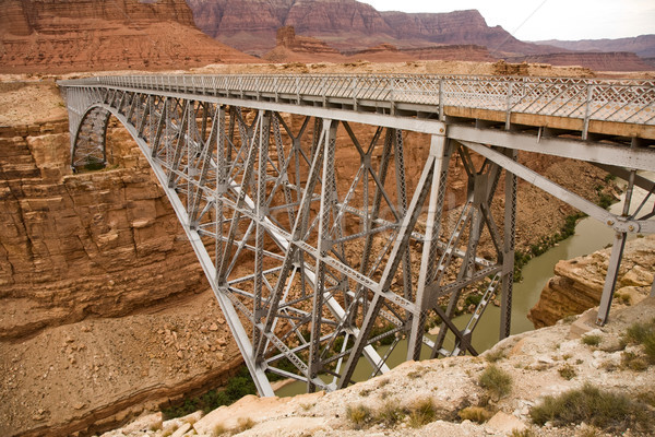 old Navajo Bridge spanning the  Colorado at Marble Canyon Stock photo © meinzahn