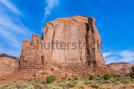Gigante arenito formação vale deserto azul Foto stock © meinzahn