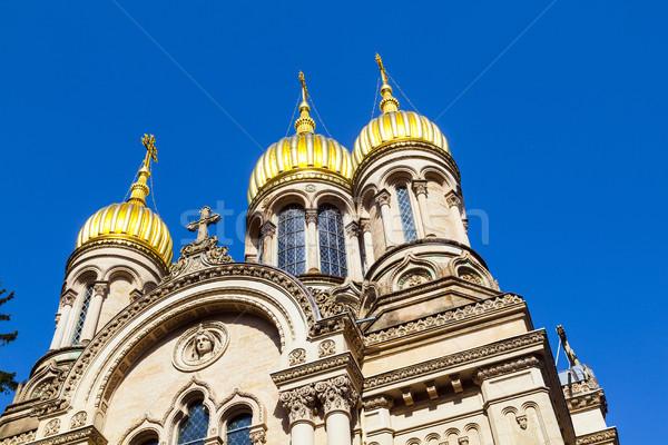 Russian orthodox chapel Wiesbaden, Germany  Stock photo © meinzahn