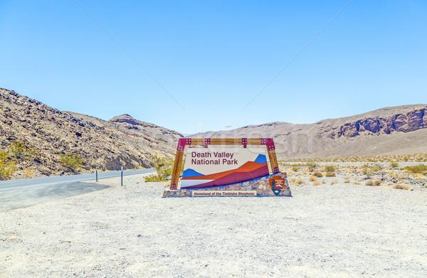 Stok fotoğraf: Park · imzalamak · ölüm · vadi · manzara