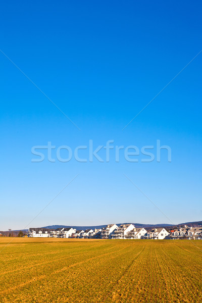 new housing area for families in rural landscape Stock photo © meinzahn