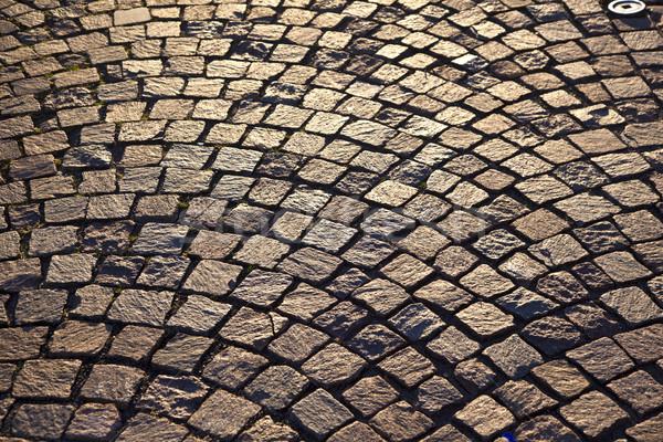 old cobble stone way Stock photo © meinzahn