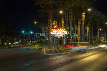 The downtown Las Vegas sign at night  Stock photo © meinzahn