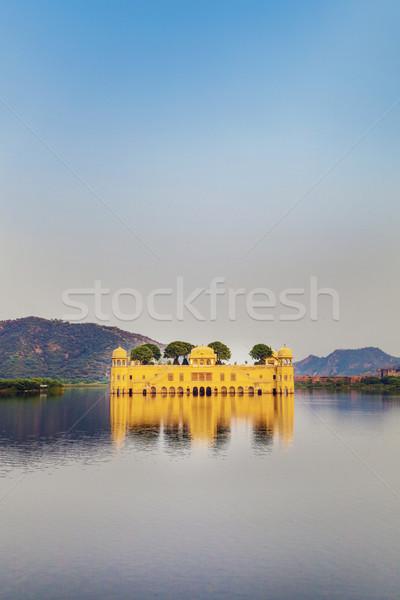 Water Palace (Jal Mahal) in Man Sagar Lake. Jaipur, Rajasthan, I Stock photo © meinzahn
