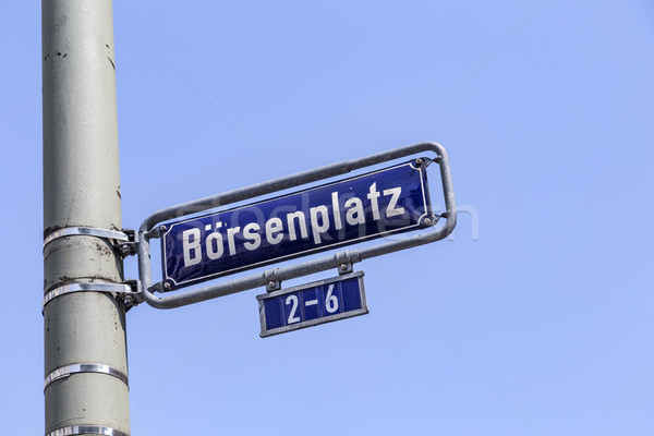 Street name Boersenplatz at the enamel sign  Stock photo © meinzahn