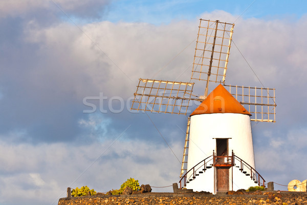 beautiful windmill in lanzarote Stock photo © meinzahn